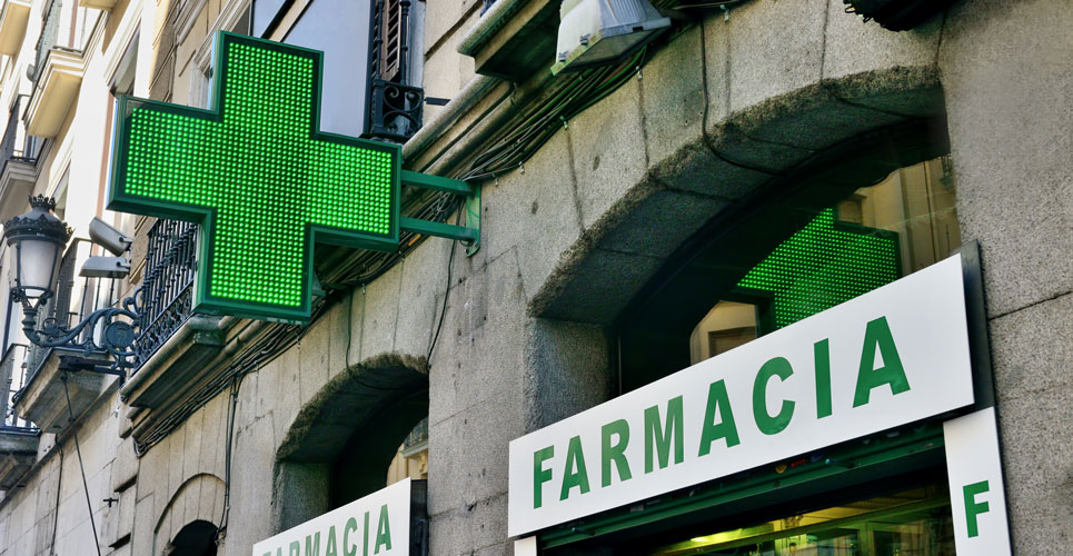 community pharmacy delivery service in Spain